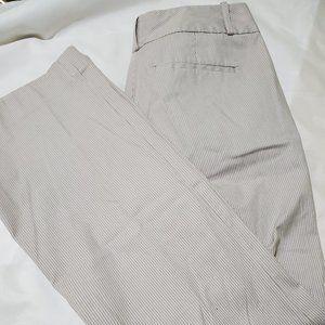 Banana Republic Pin Stripe Cotton Pants Sz 6